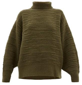 The Row Pheliana Wool-blend Boucle-effect Sweater - Khaki