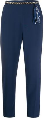 Elisabetta Franchi Chain Belt Trousers