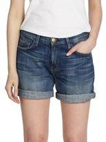Current/Elliott Boyfriend Roll-Up Denim Shorts