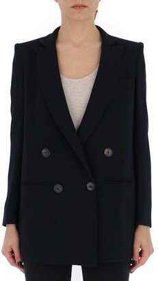 New York Industrie Double-Breasted Oversized Blazer