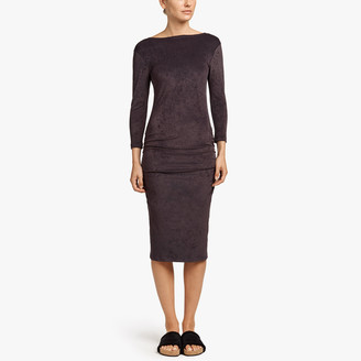 James Perse Velvet Low Back Skinny Dress