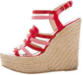 Saint Laurent Multistrap Espadrille Wedges