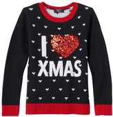 It's Our Time Girls 7-16 & Plus Size Applique Graphic Ugly Christmas Sweater
