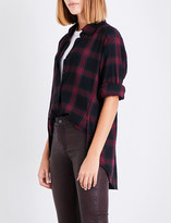 Paige Clemence checked cotton-blend shirt