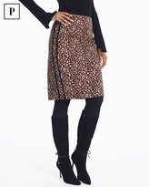 White House Black Market Petite Leopard Pencil Skirt