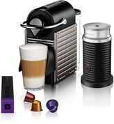 Nespresso by Breville Pixie Coffee Machine in Titanium with Aeroccino3