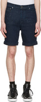 Diesel Black Gold Navy Denim Paint Splatter Shorts