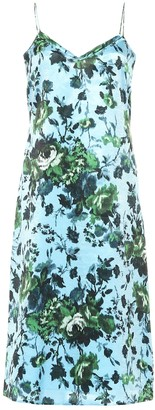 Erdem Vivianne floral satin dress