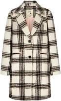 Yumi Check Print Single Breasted Coat