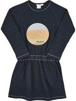 Billieblush GLITTERED COTTON-BLEND DRESS