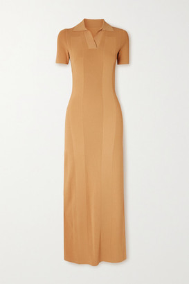 Jacquemus Open-back Ribbed-knit Maxi Dress - Yellow