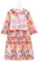 Fendi printed frill dress