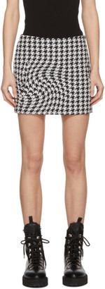 Off-White Black and White Wool Houndstooth Skirt