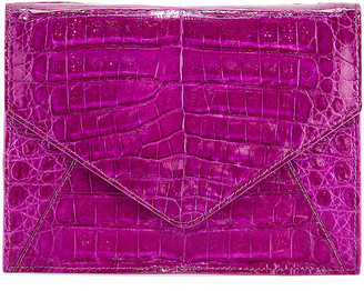 Judith Leiber Couture Envelope XS Cayman Crocodile Clutch Bag