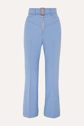 Ellery Supervision Free Belted Cropped Flared Pants - Blue