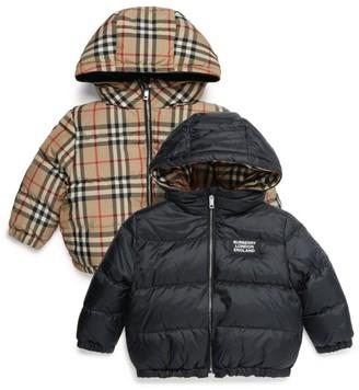Burberry Kids Reversible Vintage Check Down Jacket