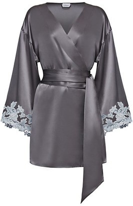 La Perla Maison Lace Trim Silk Blend Robe