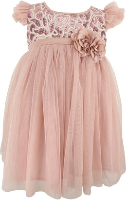 Popatu Sequin Embellished Tulle Dress