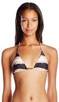 Vix Women's Tie Dye Strip Tri Bikini Top