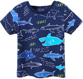 Joules Scenewell Printed Cotton T-Shirt - Dark Blue/Navy, Size 12-18m