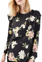Topshop MATERNITY Paint Stroke Ruffle Blouse