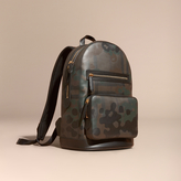 Burberry Camouflage Print London Check Backpack