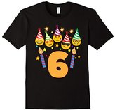 Emoji Birthday Shirt For 6 Six Year Old Girl Boy Toddler