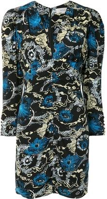A.L.C. Printed Silk-Blend Mini Dress