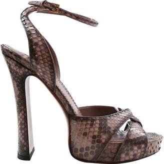 Louis Vuitton Purple Python Heels