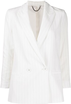 AllSaints Pinstripe Double-Breasted Jacket