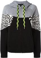 Marc Jacobs zipped hoodie - women - Cotton/Nylon/Viscose/Wool - XS