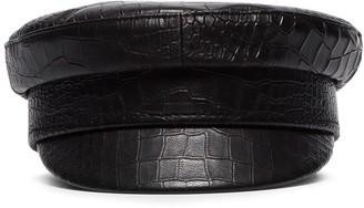Ruslan Baginskiy croc-effect baker boy hat