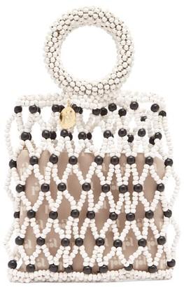 Rosantica Jules Beaded Clutch Bag - Womens - Black White