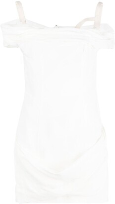 Jacquemus Off-Shoulder Mini Dress