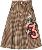 Miu Miu embroidered pleated skirt