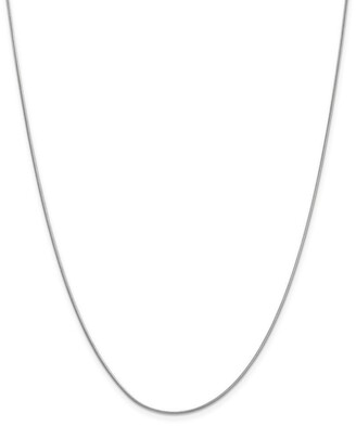 Curata 14k White Gold Solid 0.9mm Round Snake Chain Necklace