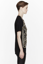 Balmain Gold jacquard crystal Embroidered T-Shirt