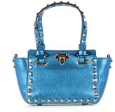 Valentino Blue Leather Handle Bag