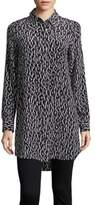 Equipment Brett Animal-Print Silk Tunic
