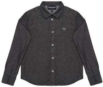 Armani Junior Chambray Cotton Dress Shirt