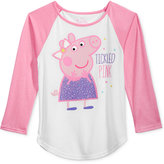 Nickelodeon Nickelodeon's Peppa Pig Graphic Raglan T-Shirt, Toddler & Little Girls (2T-6X)