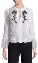 Nanette Lepore Lucky Day Silk Lace Top