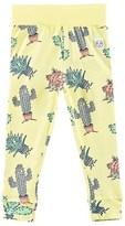 Indikidual Yellow Cactus Print Leggings