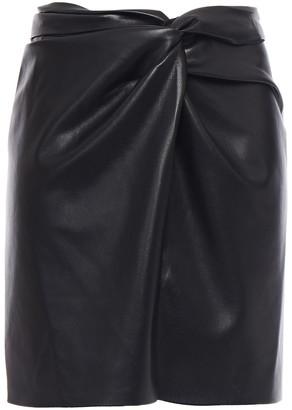 Nanushka Milo Twist-front Vegan Leather Mini Skirt