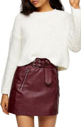 Topshop Chevron Crop Sweater