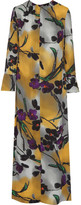 Marni Floral-print Crepe Maxi Dress - Yellow