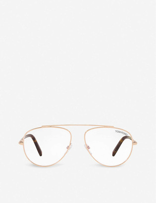 Tom Ford FT5622-B acetate aviator-frame eyeglasses
