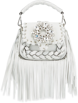 Gedebe Alice Small Top-Handle Fringe Shoulder Bag