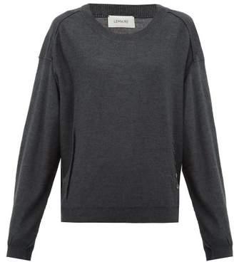Lemaire Merino Wool-blend Sweater - Womens - Dark Grey
