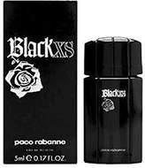 Paco Rabanne Black XS by for Men 0.17 oz Eau de Toilette Miniature Collectible, Travel Size Splash On by